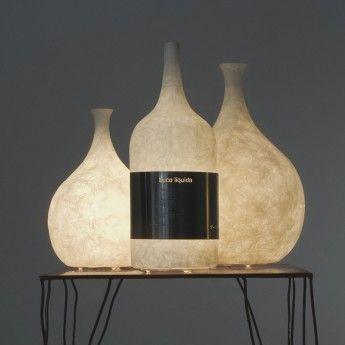 Lampada da tavolo LUCE LIQUIDA 1, 2 e 3 (l'ultima a destra)