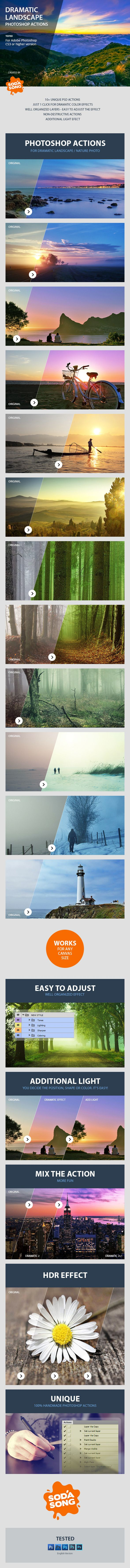 Dramatic Landscape Photoshop Actions Photo Effects #actions Download: http://graphicriver.net/item/dramatic-landscape-photoshop-actions/8527307?ref=ksioks