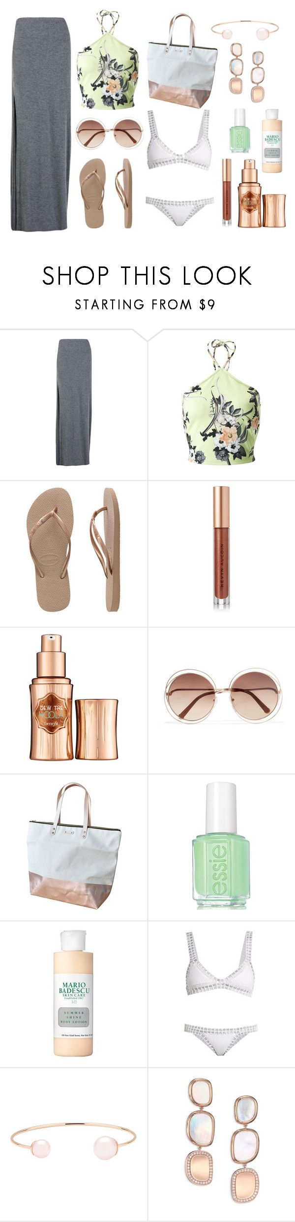 """""""Trinidad and Tobago Travel - Contest Entry 2"""" by lovelisa1997 ❤ liked on Polyvore featuring Boohoo, Miss Selfridge, Havaianas, Kevyn Aucoin, Benefit, Chloé, Essie, Mario Badescu Skin Care, kiini and Ted Baker"""
