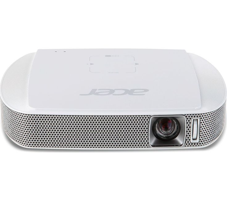 Buy ACER  C205 Short Throw Portable Projector Price: £269.99 Top features: - A pocket-sized projector you can take anywhere - Long-lasting lamp provides up to 30,000 hours of life - Built-in battery for cable-free viewing and two hours of play - Quality stereo speakers brings footage to life Pocket-sized projector The Acer C205 Short Throw Portable Projector is a small pocket-sized projector...