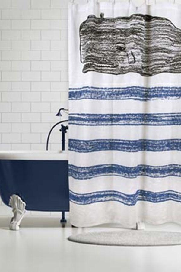 Thomaspaul Whale Sketch Shower Curtain Whale Shower Curtain