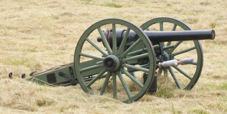 10 pounder Parrott Rifle, a muzzle-loading, rifled, black powder Civil War cannon which fired a 10 pound projectile