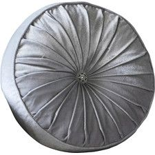 Silver Velvet Round Loire Cushion