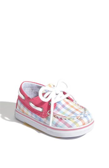 Cute Sperry baby shoes..find out in two weeks if its a boy or girl and if it is a girl the tan and plaid ones are the first thing I am buying!!! These are a def. yes!!!