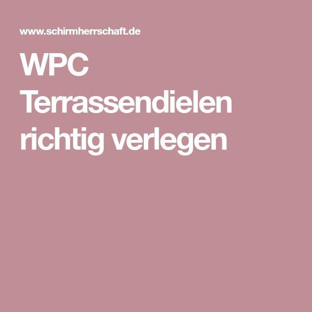 WPC Terrassendielen richtig verlegen