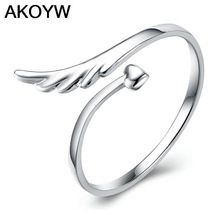 Plateados plata del ángel alas moda anillo de la abertura modelos femeninos lindo joyería vintage fabricantes, venta al por mayor de la joyería(China (Mainland))