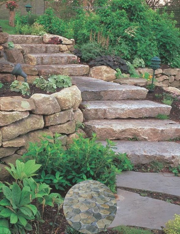 Terraced Concrete Patio And Terraced House Patio Ideas Pretty Up Your Patio And Dress Up Your D In 2020 Stone Landscaping Garden Landscape Design Backyard Landscaping