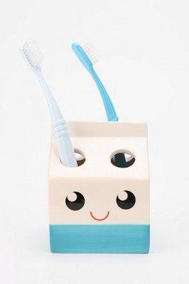 Milk carton toothbrush holder :) urbanoutfitters.com