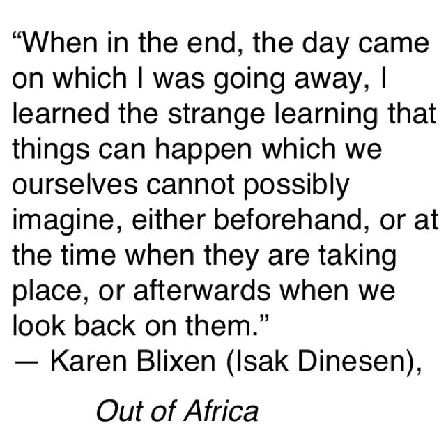Quotes from Out of Africa