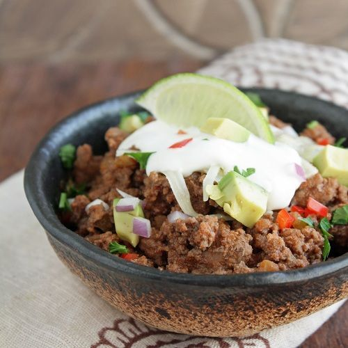 "10 Minute Low Carb Chili - Author says "" Eat it out of a bowl with a spoon, stuff it into little sweet peppers as an appetizer, cover it with cheese and sour cream and serve with pork rinds as low carb nachos, use it as a base for taco salad…you get the idea."""