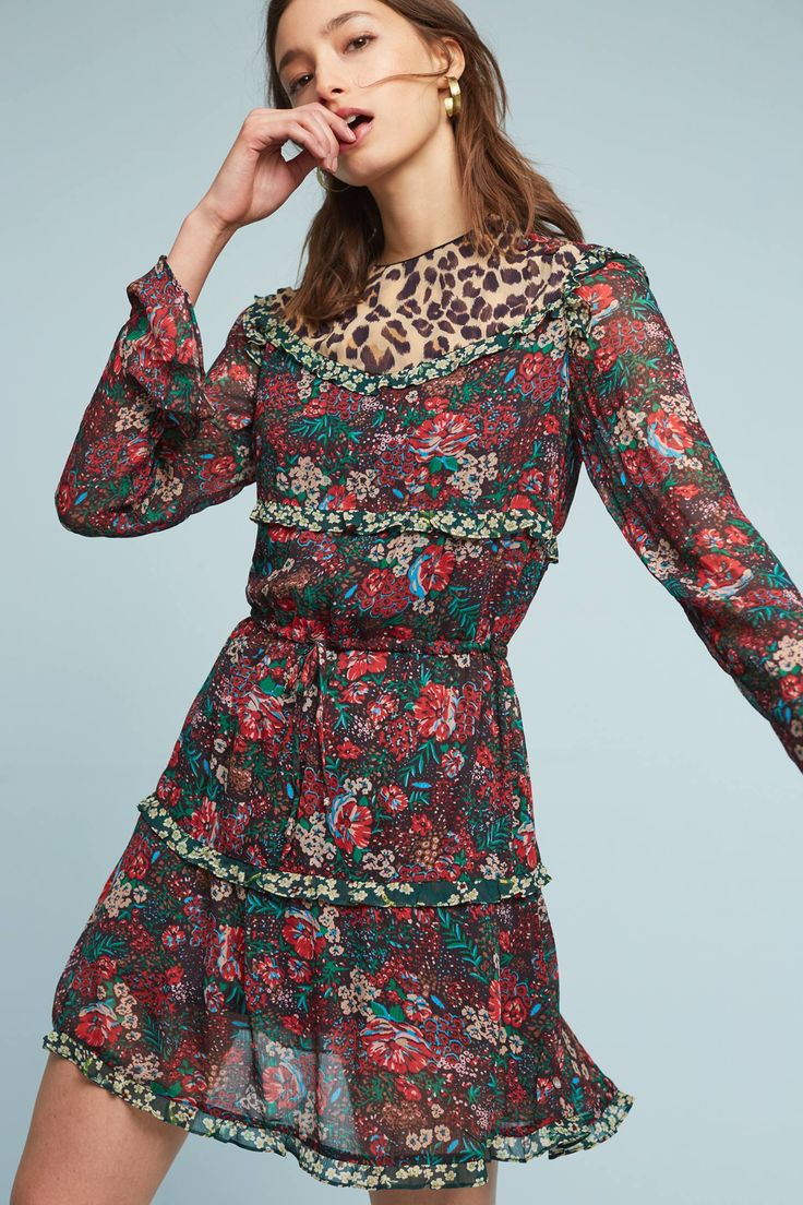 Slide View: 1: Leopard & Lillies Dress
