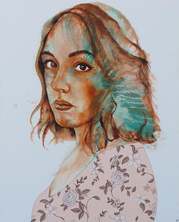 'Carissa' by Johanna Wilbraham. Oil on canvas, 120 x 150 cm.