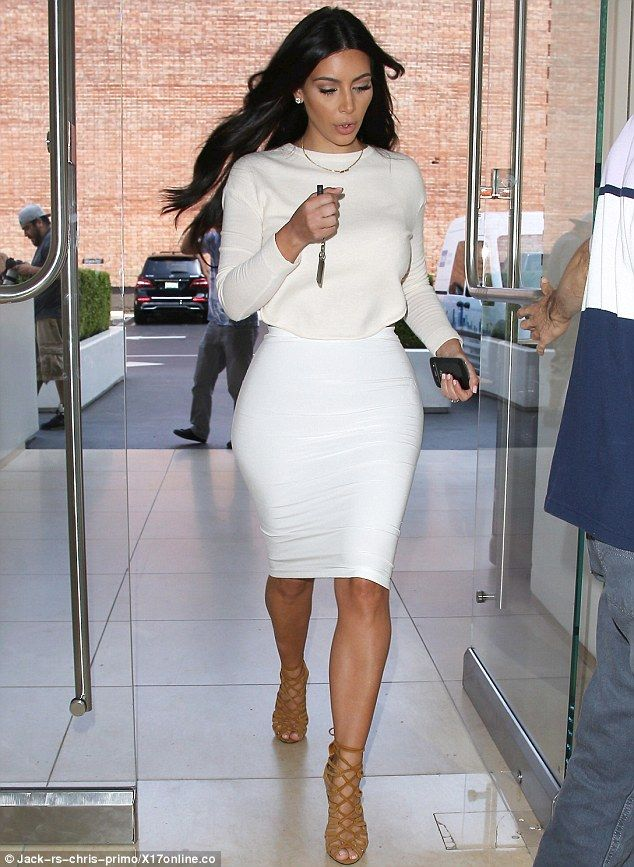Still showing support: Kim, pictured today in Calabasas, has revealed that she no longer supports the Hollywood ban of the The Beverly Hills Hotel