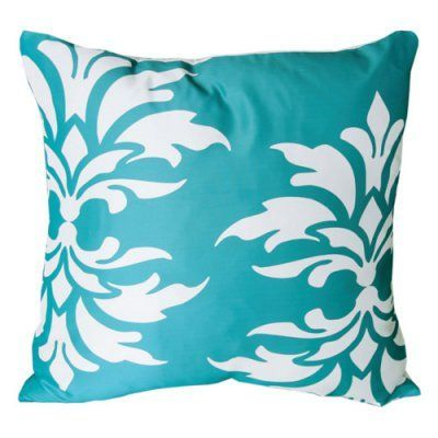 Mina Victory by Nourison Damask Decorative Throw Pillow Turquoise - 798019034139