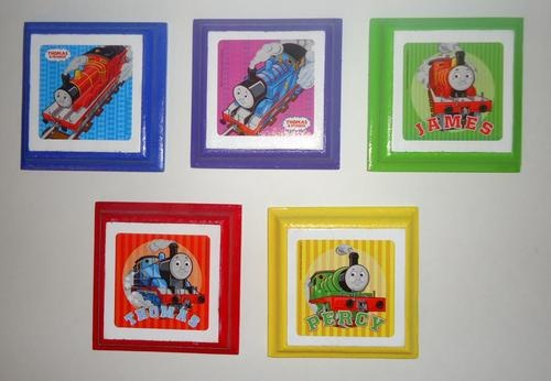 Thomas And Friends Kids Wall Plaques Set Of 5 Childrens