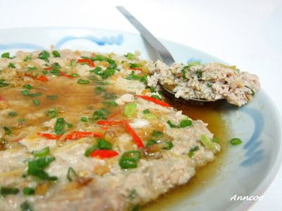 Steamed Minced Pork with Dong Cai 冬菜蒸猪肉 | Anncoo Journal - Come for Quick and Easy Recipes