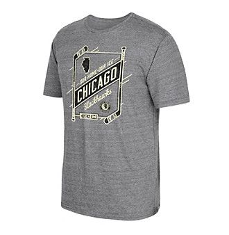 Reebok® NHL® Chicago Blackhawks Men's Our Home Our Ice Short Sleeve Tee