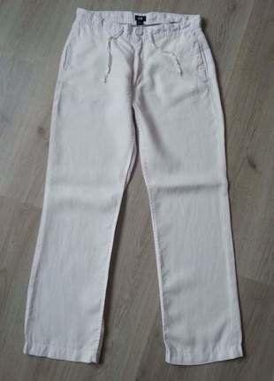 Lněné bílé kalhoty H&M vel.42