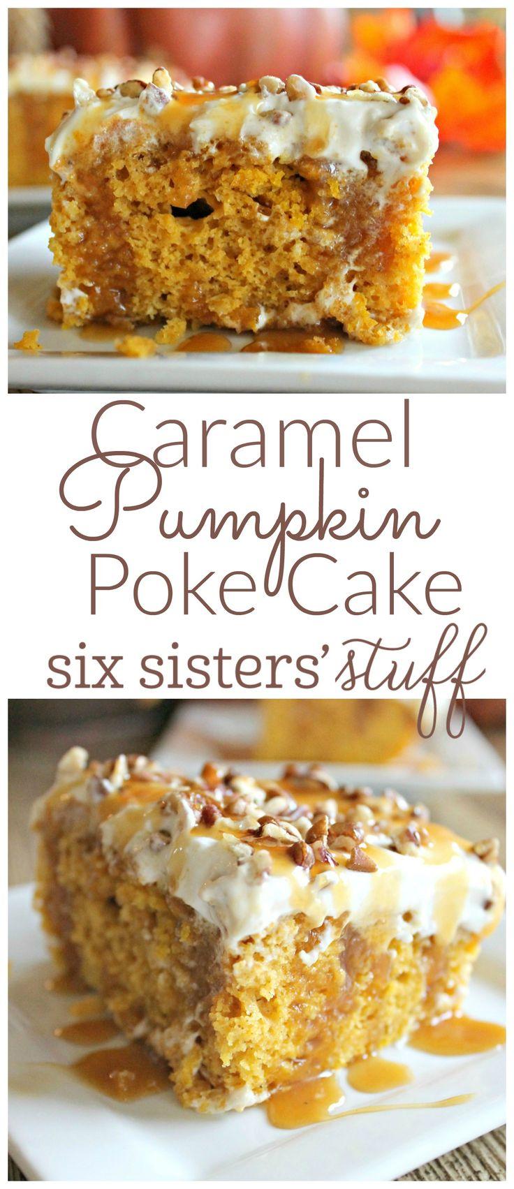 Caramel Pumpkin Poke Cake 3