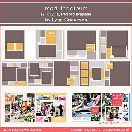 Modular Album - Digital Scrapbooking Templates DesignerDigitals