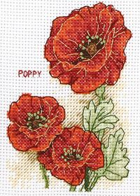 Bright red poppies, found on : http://www.coatscrafts.co.uk/Stitching/Projects/cross_stitch_poppies.htm
