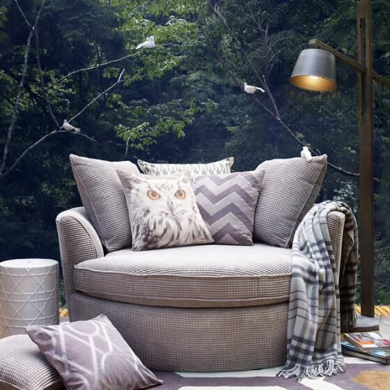 urban barn nest custom chair silver or charcoal bumps