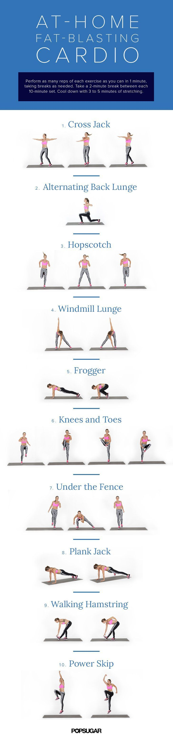 200 best At Home Cardio images on Pinterest | Exercise workouts ...