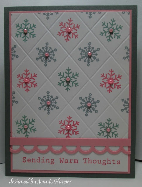 I like this layout.  I think I will use the new Itty Bitties stamp set from the upcoming spring mini from SU