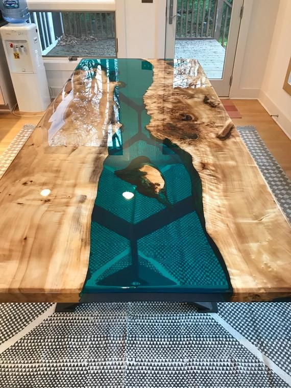 Turquoise Resin River Dining Table Dinner Tables Furniture