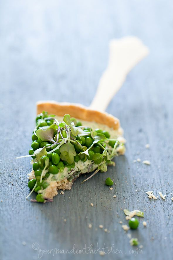 Pea and herbed Goat Cheese Tart