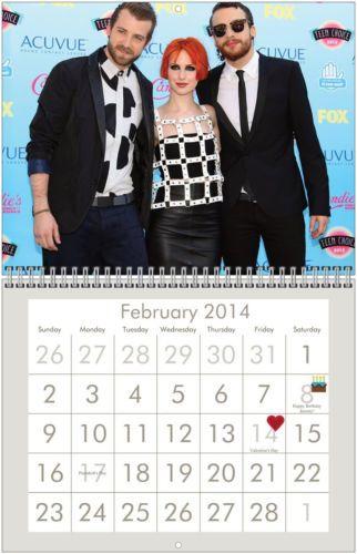 PARAMORE 2014 Wall Calendar - $28