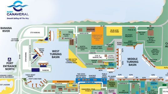 The Port Canaveral Interactive Map Cruising Life For Me Pinterest Interactive Map The O