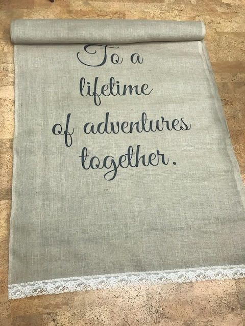how to make a burlap aisle runner