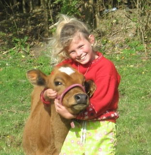 Inaya and Ocean kids and calves gotta love them #Farming #Cattle