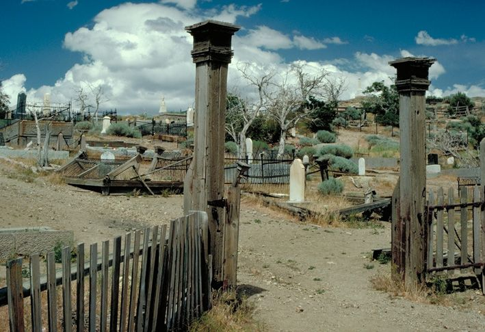My husband and I visited this famous haunted cemetery in the ghost town of Virginia City, Nevada. One of the coolest places I've ever been!