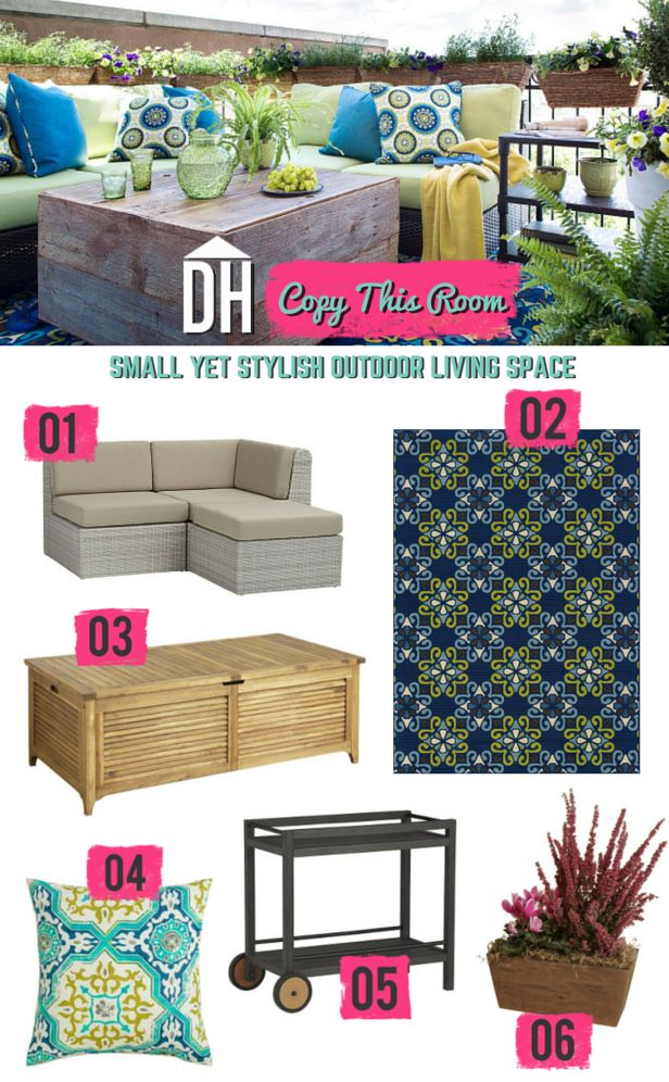 406 best outdoor living ideas images on pinterest | outdoor spaces ... - Pinterest Small Patio Ideas