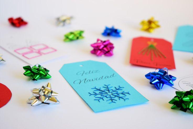 Etiquetas de Navidad DIY