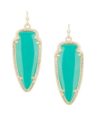 Sky Earrings in Teal - Kendra Scott Jewelry. Available January 22, 2014.