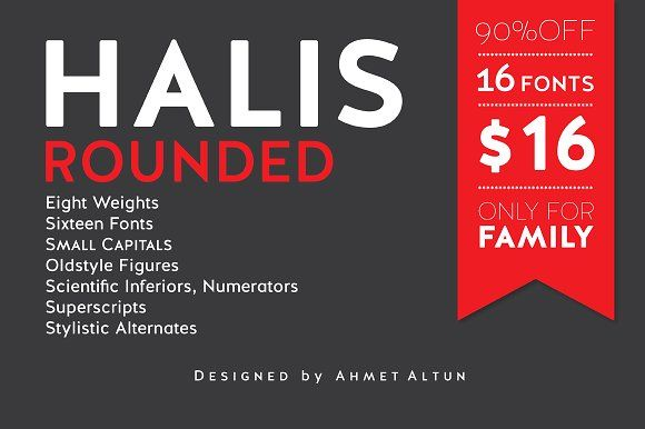 Halis Rounded-90% off by aatype on @creativemarket
