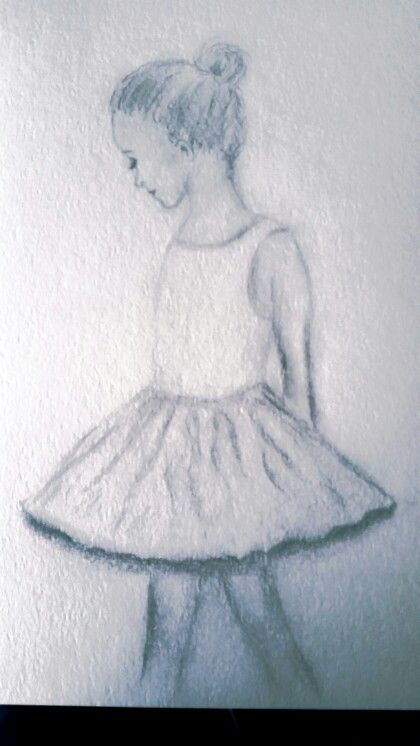 Girl ballerina in graphite