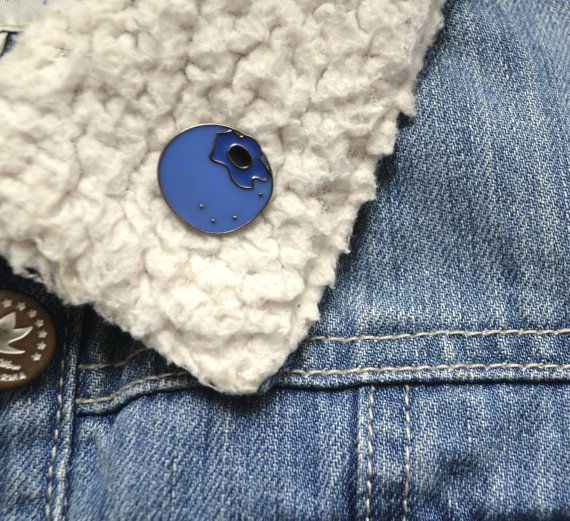 Blueberry enamel pin by thehippyhipster
