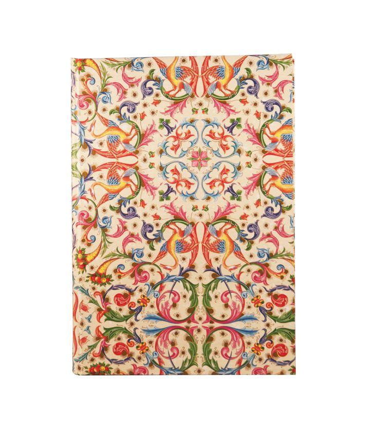 Carnet A5 - Tranches dorées - Papier de couleur ivoire. Couverture en Papier Florentin  www.byisabellemoreau.com #notes, #carnet, #papierflorentin, #papier, #papeterie, #paris, #madeinfrance,