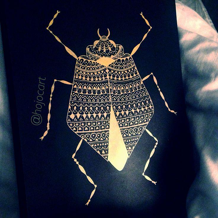Gold ink bug