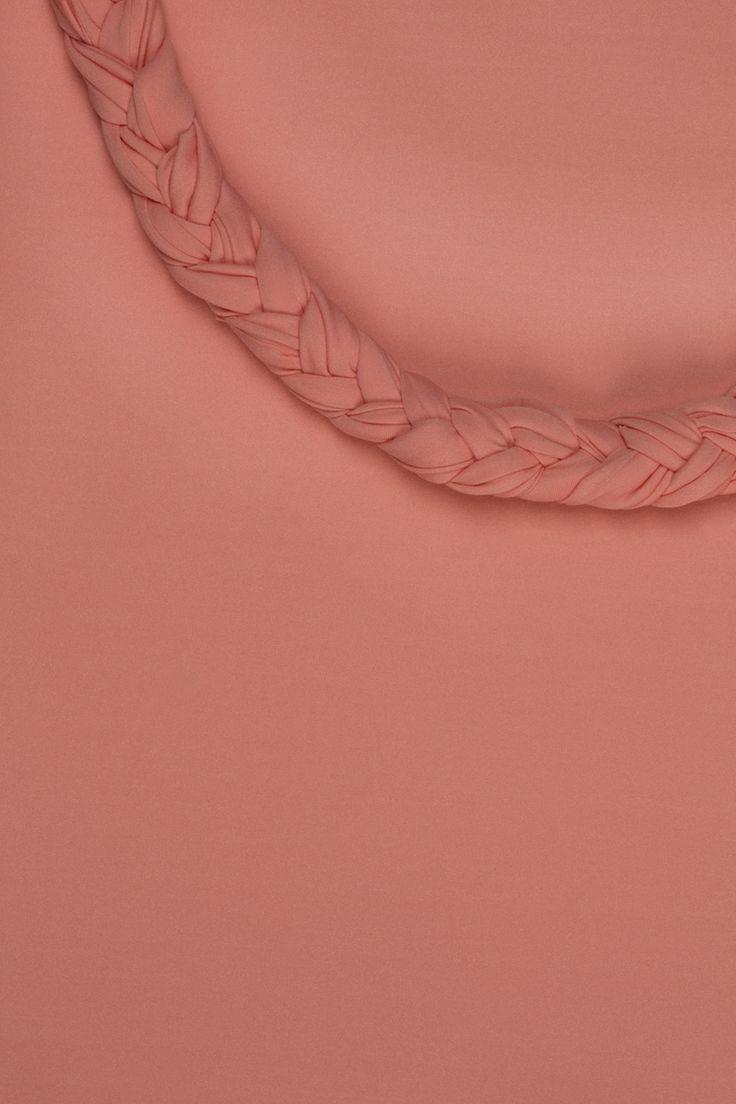 Piuma #colors #fashion #moda #color #skin #peach # #fabric #fabrics #textile #textiles #inspiration #elegance #braid #tress