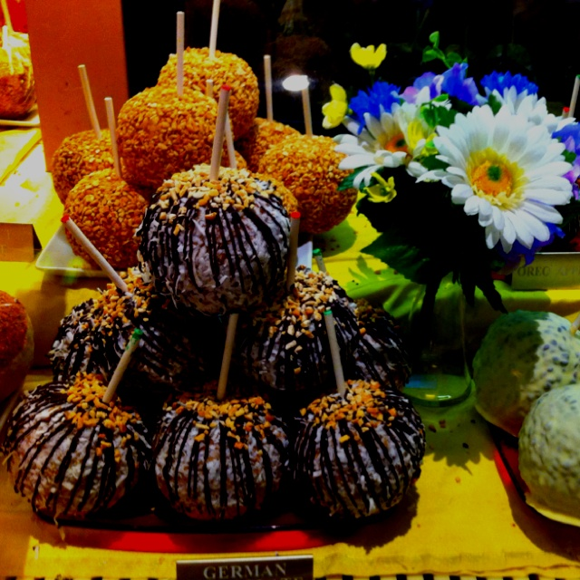 German Chocolate Candy Apples. Found at the Venetian Las Vegas