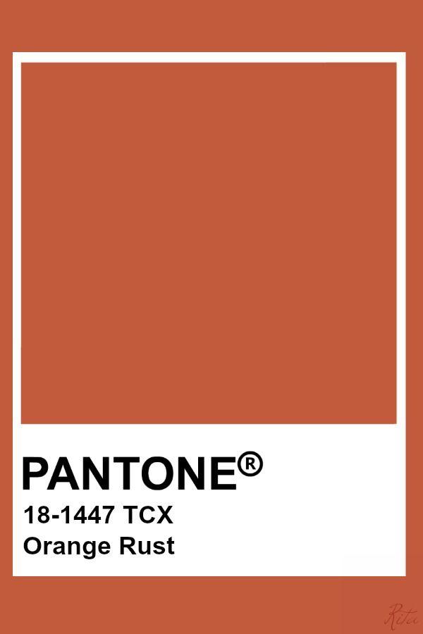 Pantone Orange Rust | Pantone Fashion & Home TCX Colors in