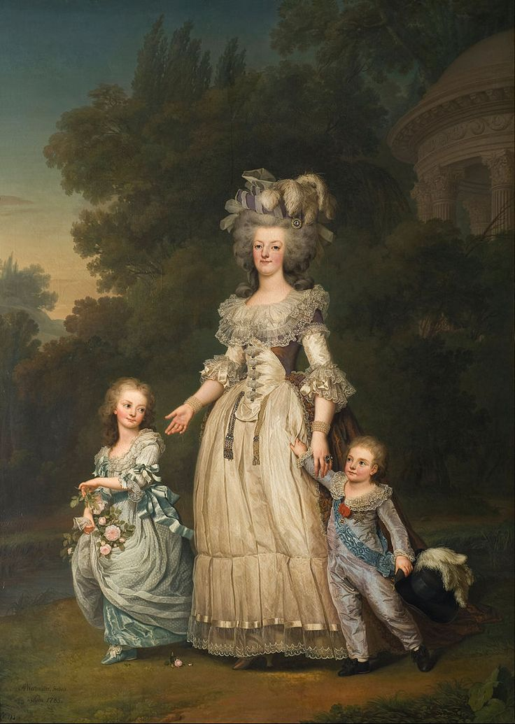 Adolf Ulrik Wertmüller - Queen Marie Antoinette of France and two of her Children Walking in The Park of Trianon, 1785 - Google Art Project - Marie Antoinette - Wikimedia Commons