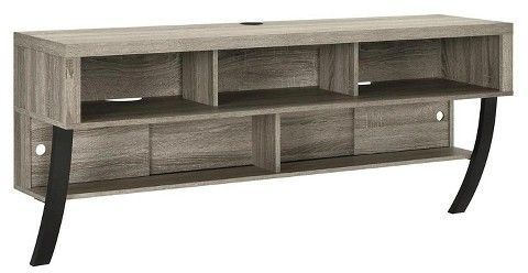 """Altra Asher Wall Mounted 65"""" TV Stand - Sonoma Oak"""