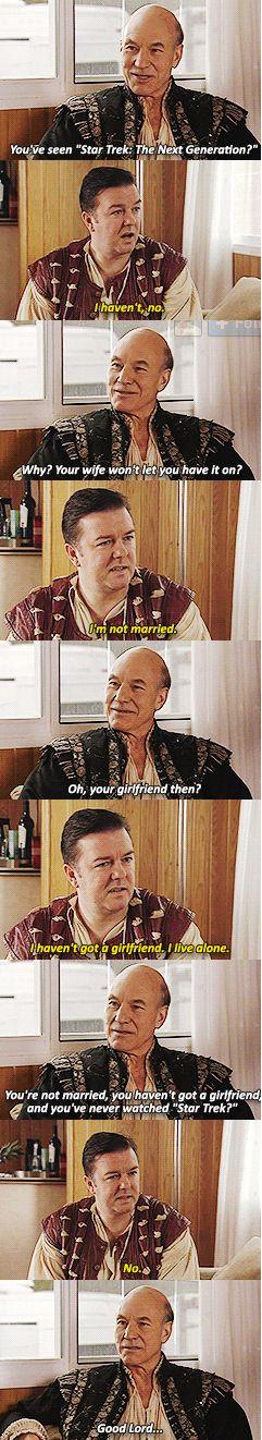 Patrick Stewart & Ricky Gervais More reasons to love Patrick