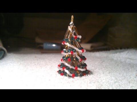 Beading4perfectionists: Tiny beaded Christmas Tree (ornament)  beading tutorial